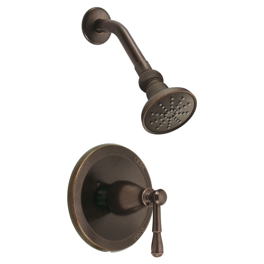 Danze Eastham Tumbled Bronze 1-Handle Shower Faucet Trim Kit with Single Function Showerhead