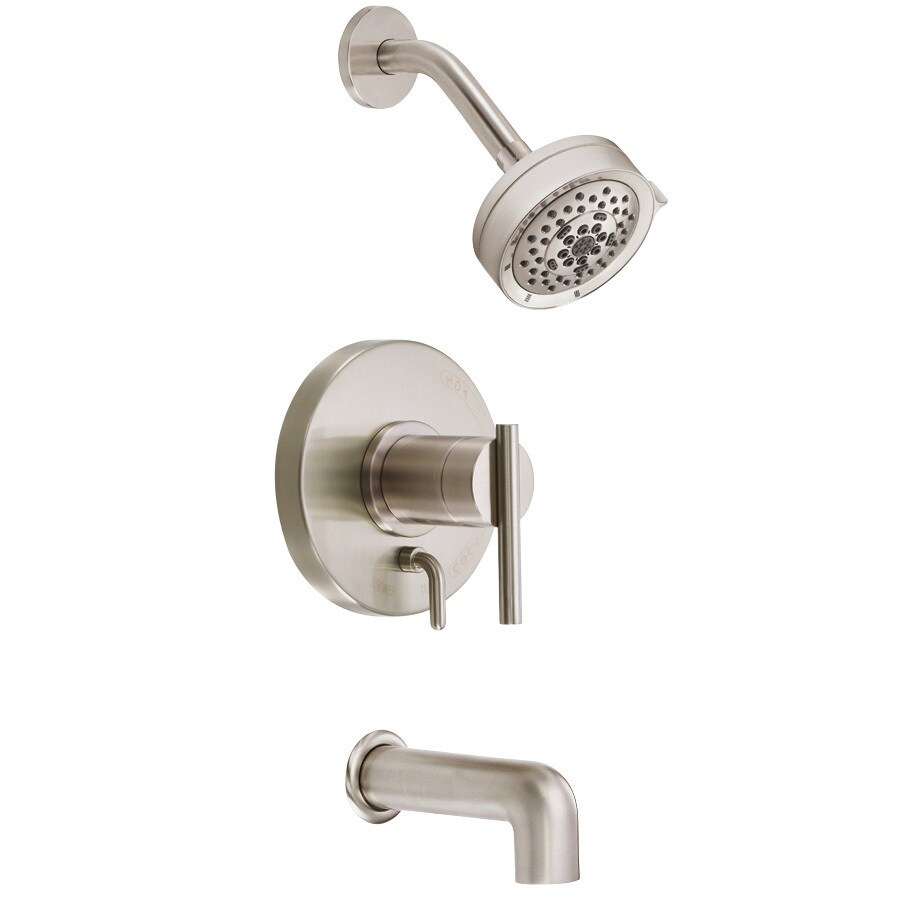 Shop Danze Parma Brushed Nickel 1 Handle Bathtub And Shower Faucet Trim Kit W