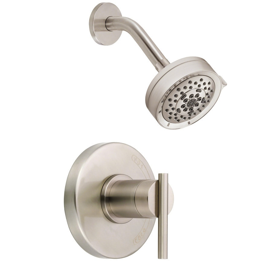 Danze Parma Brushed Nickel 1-Handle Handle(S) Included Shower Faucet with Multi-Function Showerhead