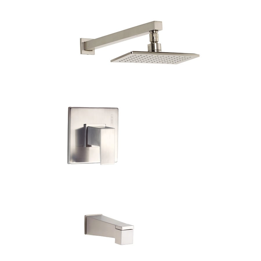 Danze Mid-Town Brushed Nickel 1-Handle Bathtub and Shower Faucet Trim Kit with Single Function Showerhead