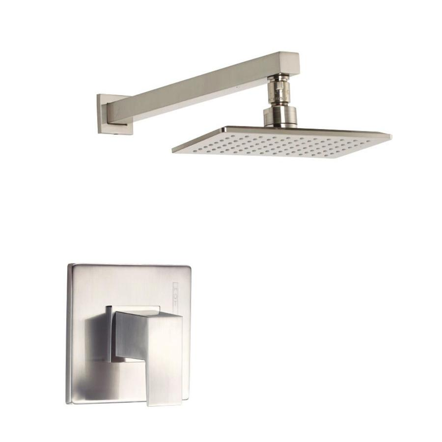 Danze Mid-Town Brushed Nickel 1-Handle Shower Faucet Trim Kit with Single Function Showerhead