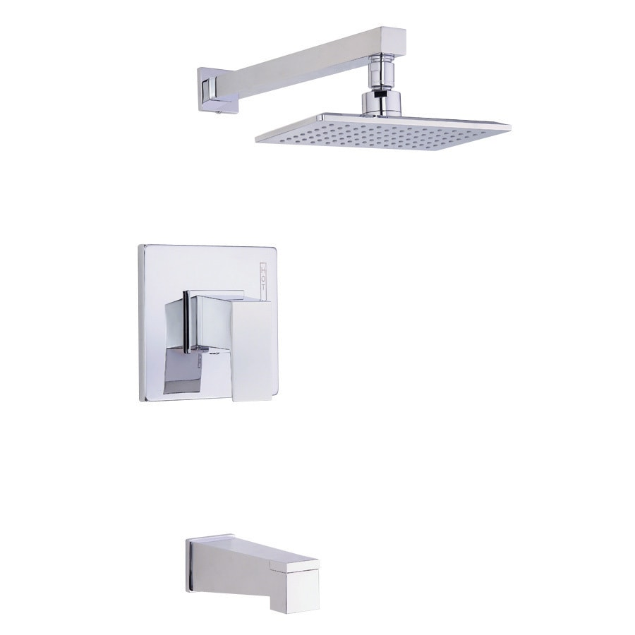 Danze Mid-Town Chrome 1-Handle Bathtub and Shower Faucet Trim Kit with Single Function Showerhead