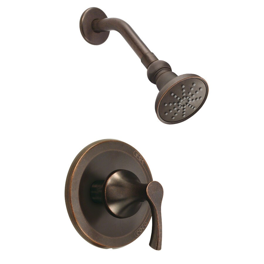 Shop Danze Antioch Tumbled Bronze 1 Handle Shower Faucet Trim Kit With Single Function