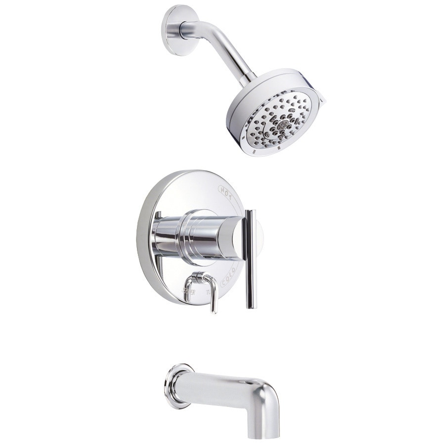 Danze Parma Chrome 1-Handle Handle(S) Included Tub and Shower with Multi-Function Showerhead