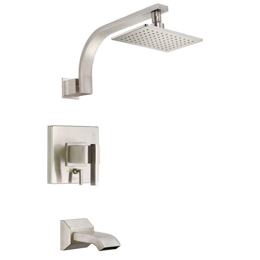 Danze Sirius Brushed Nickel 1-Handle Bathtub and Shower Faucet Trim Kit with Single Function Showerhead