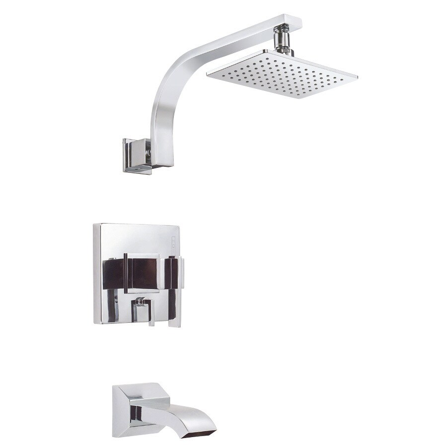 Danze Sirius Chrome 1-Handle Bathtub and Shower Faucet Trim Kit with Single Function Showerhead