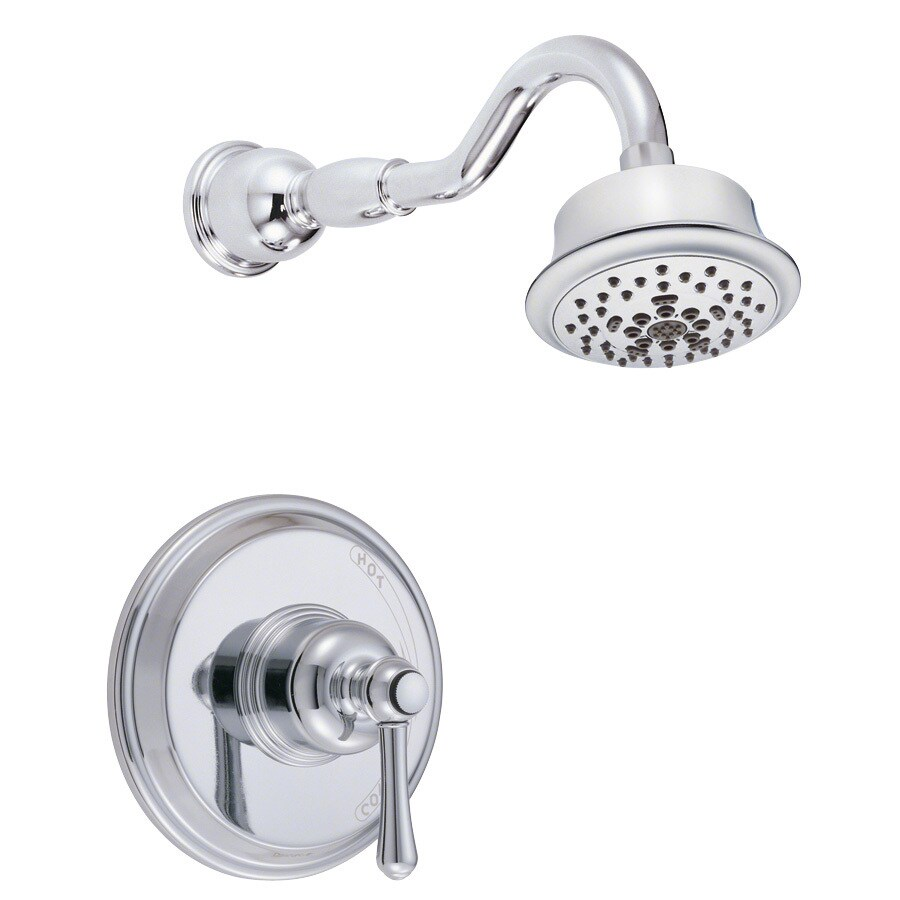Danze Opulence Chrome 1-Handle Shower Faucet Trim Kit with Multi-Function Showerhead