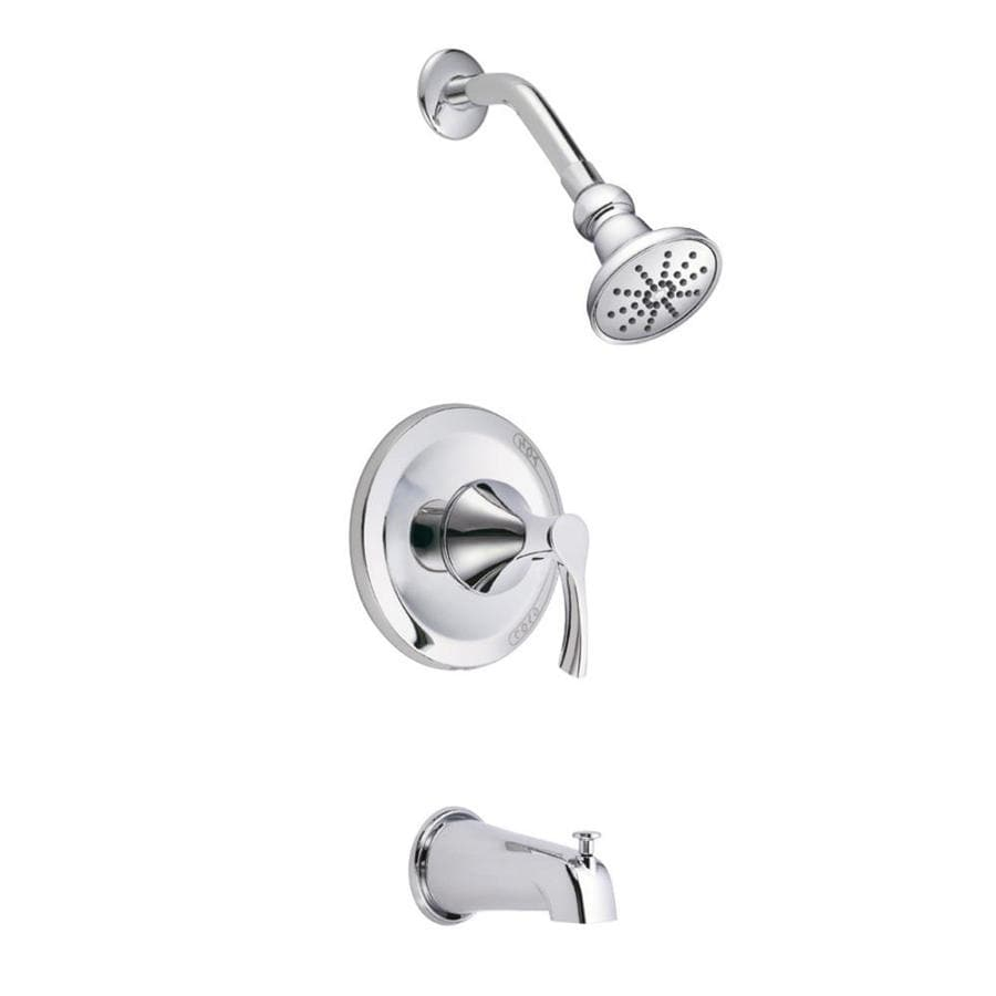 Danze Antioch Chrome 1-Handle Bathtub and Shower Faucet Trim Kit with Single Function Showerhead