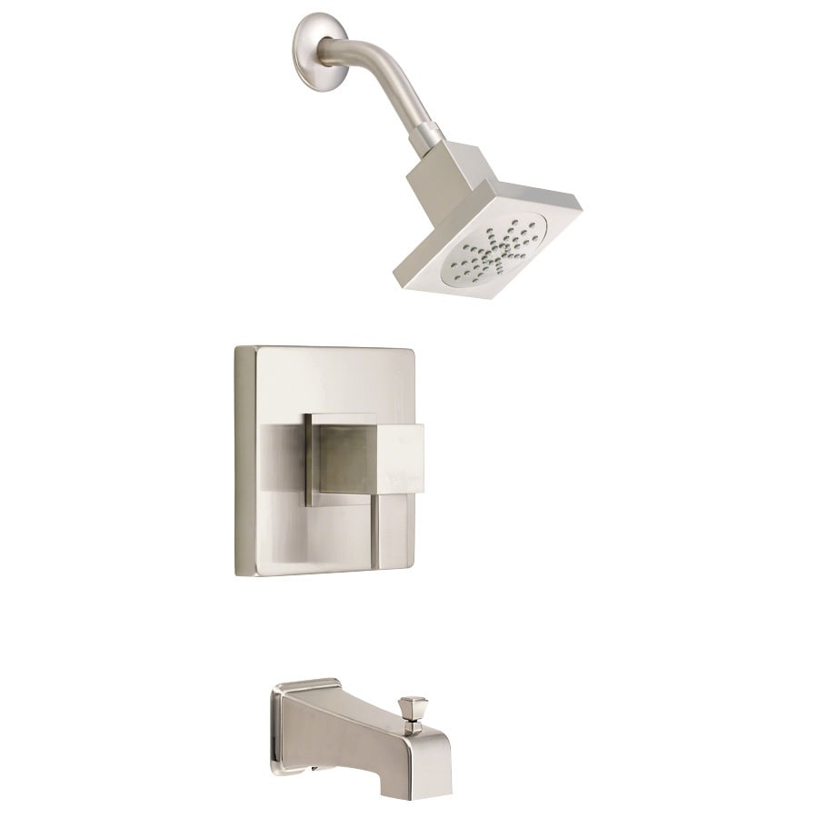 Danze Reef Brushed Nickel 1-Handle Bathtub and Shower Faucet Trim Kit with Single Function Showerhead