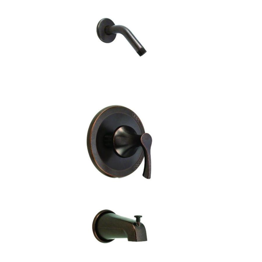 Danze Antioch 1H Tub And Shower Trim Kit With Diverter On Spout Less  Showerhead Tumbled Bronze