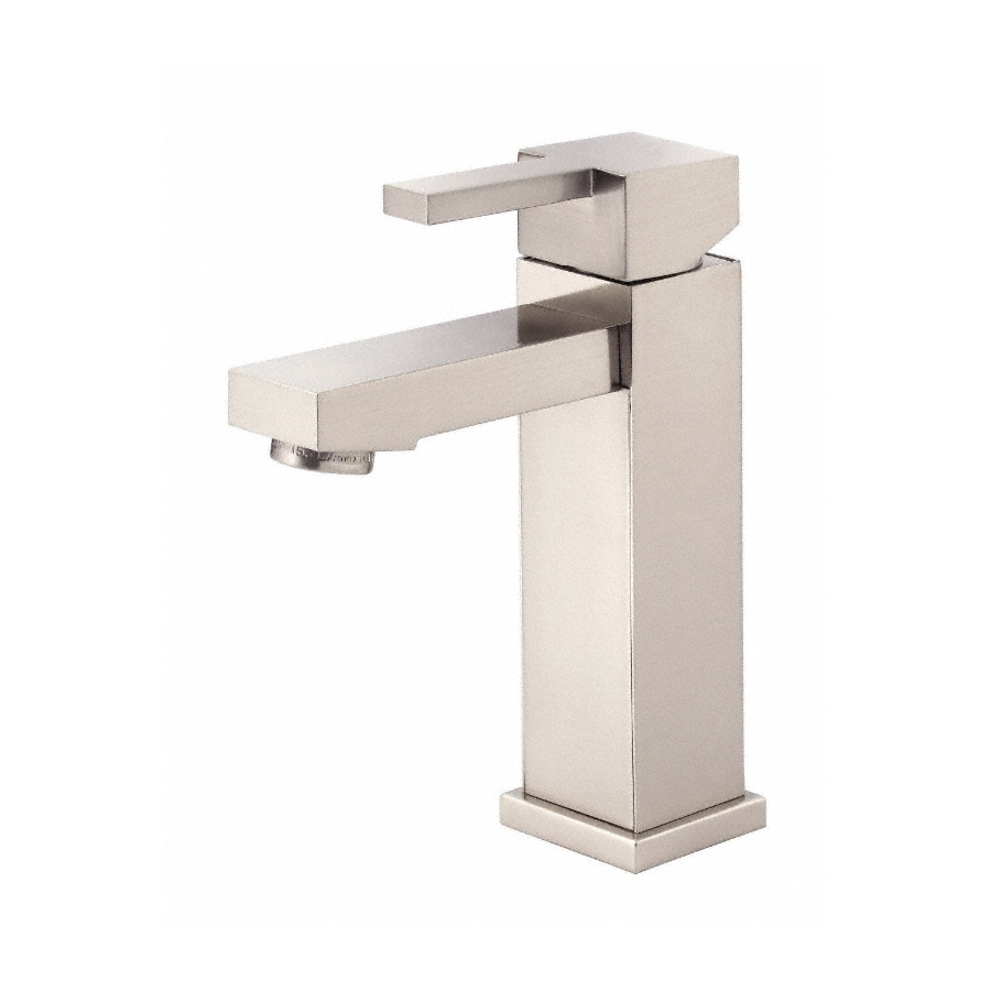 Danze Reef Brushed Nickel 1-Handle Single Hole WaterSense Bathroom Faucet (Drain Included)
