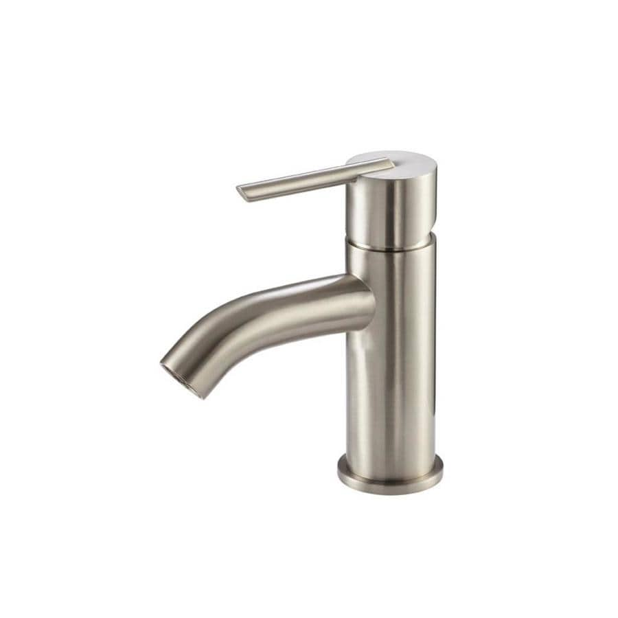 Danze Rouge Brushed Nickel 1-Handle Single Hole WaterSense Bathroom Faucet (Drain Included)