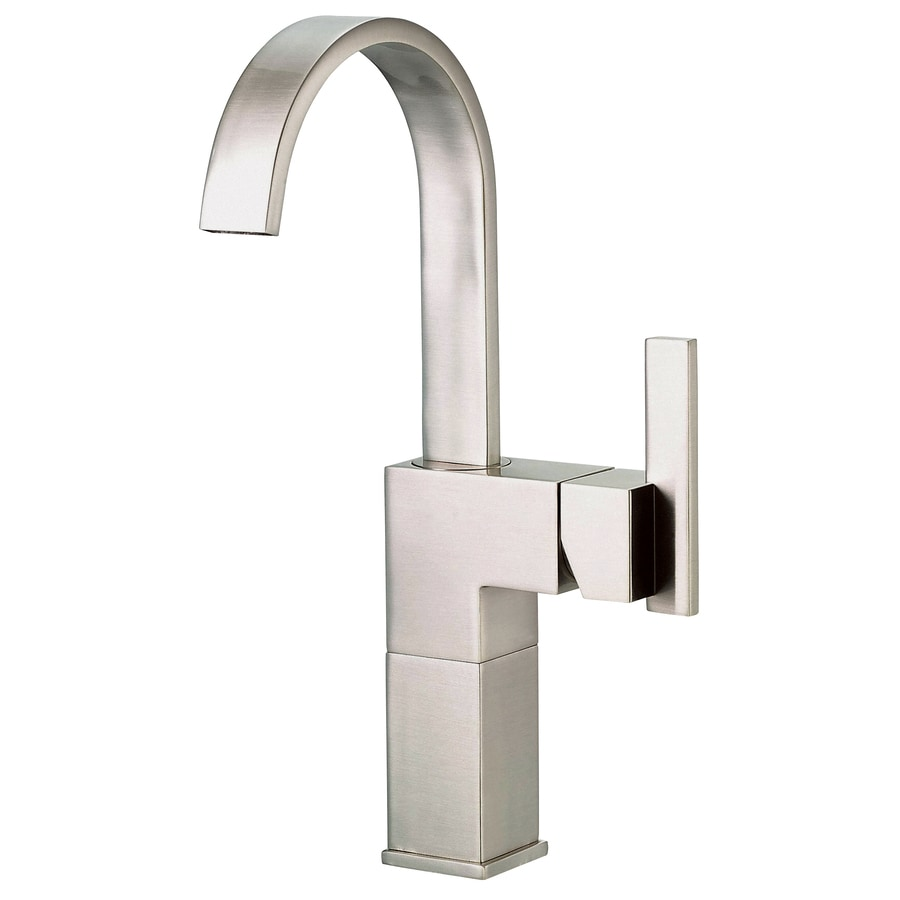 brushed nickel 1 handle single hole bathroom faucet drain included