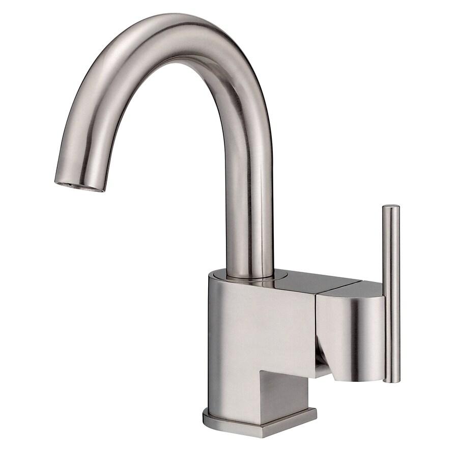 Danze Como Brushed Nickel 1-Handle Single Hole WaterSense Bathroom Faucet (Drain Included)