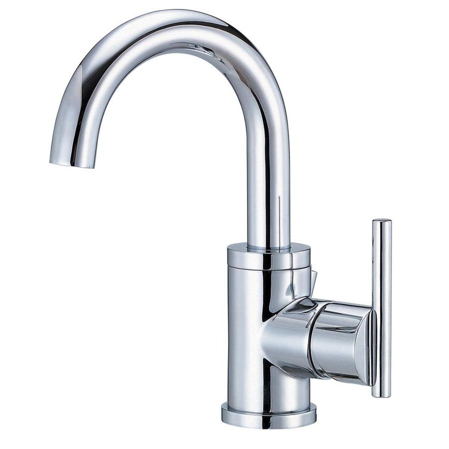 single hole bathroom sink faucet shop danze parma chrome 1 handle single bathroom sink 24116