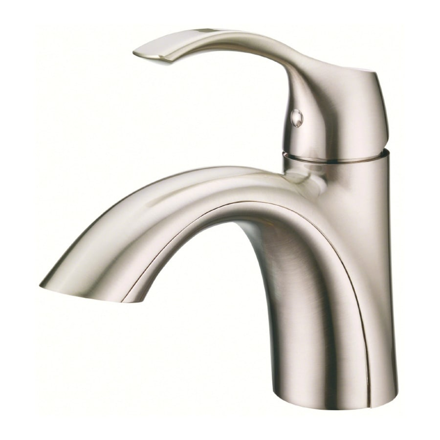 Danze antioch brushed nickel 1 handle single hole - Single hole bathroom faucets brushed nickel ...
