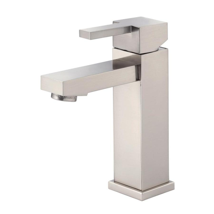 Danze reef brushed nickel 1 handle single hole bathroom - Single hole bathroom faucets brushed nickel ...