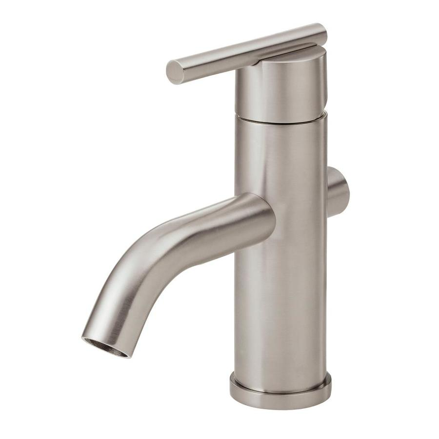 parma brushed nickel 1 handle single hole watersense bathroom faucet