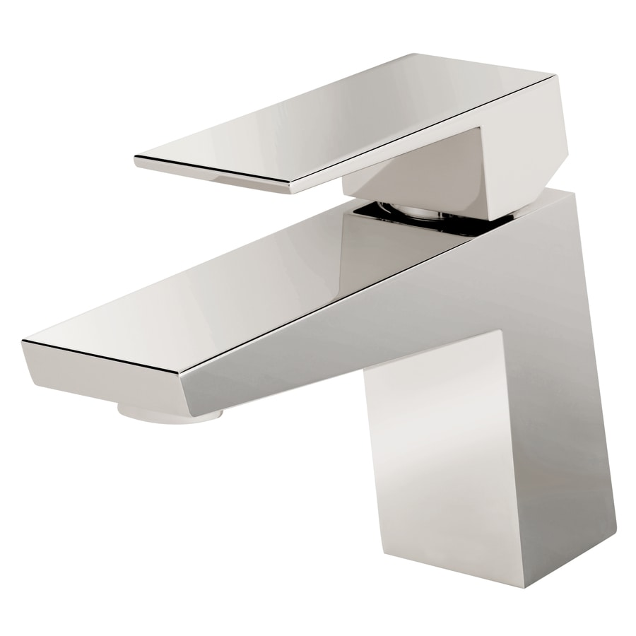 Danze Mid-Town Polished Nickel 1-Handle Single Hole Bathroom Faucet (Drain Included)