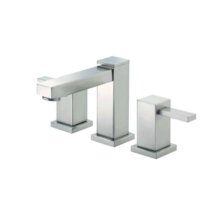 Danze Reef Brushed Nickel 2-Handle Widespread WaterSense Bathroom Faucet (Drain Included)