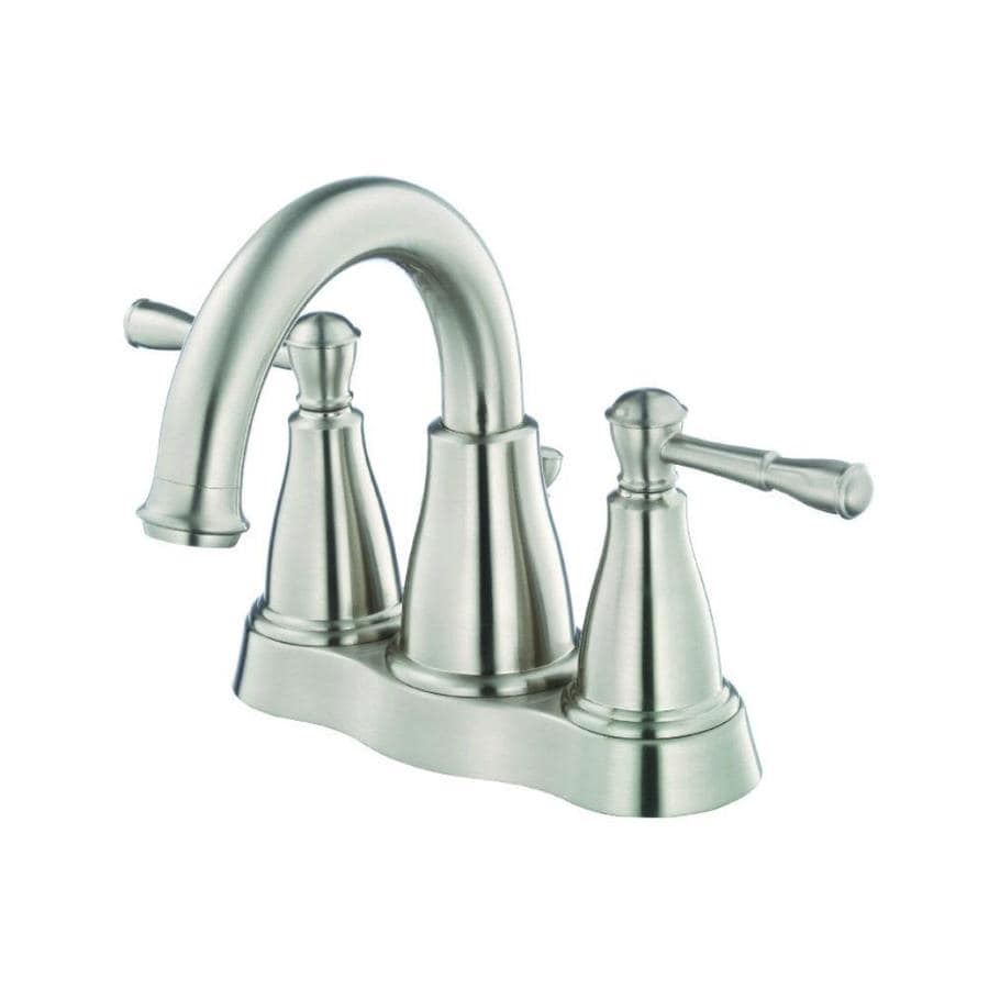 Danze Eastham Brushed Nickel 2-Handle 4-in Centerset WaterSense Bathroom Faucet Drain Included