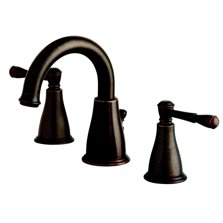 Shop Danze Eastham Tumbled Bronze 2-handle Widespread Bathroom Sink ...