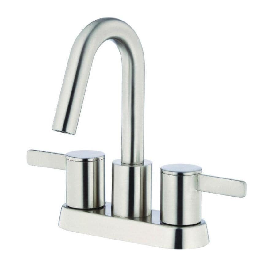 Danze Amalfi Brushed Nickel 2-Handle 4-in Centerset WaterSense Bathroom Faucet Drain Included