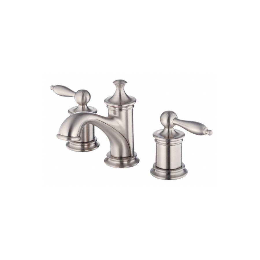 Danze Prince Brushed Nickel 2-Handle Widespread WaterSense Bathroom Faucet (Drain Included)