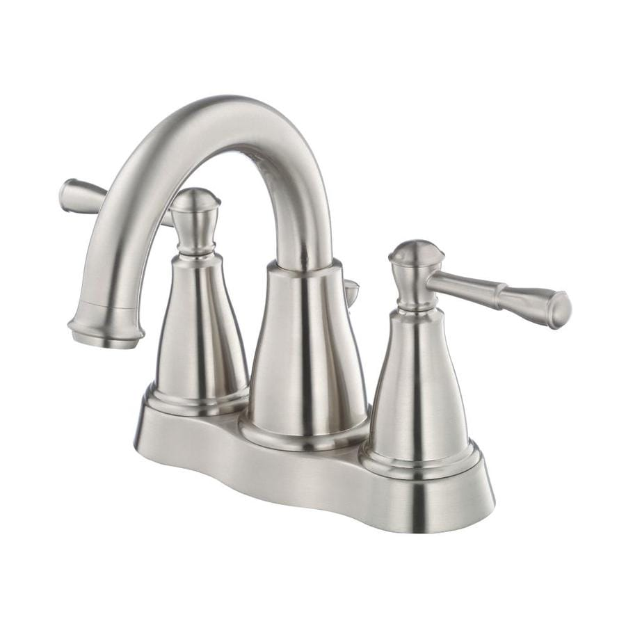 Danze Eastham Brushed Nickel 2-Handle 4-in Centerset WaterSense Bathroom Faucet (Drain Included)