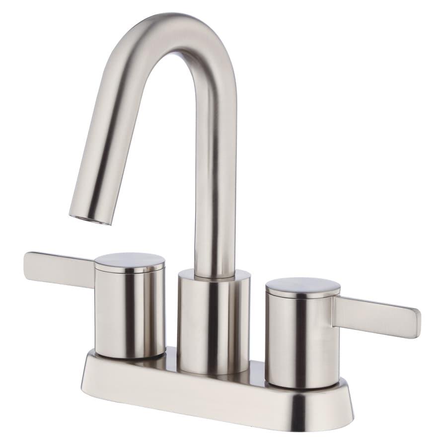 Danze Amalfi Brushed Nickel 2-Handle 4-in Centerset WaterSense Bathroom Faucet (Drain Included)