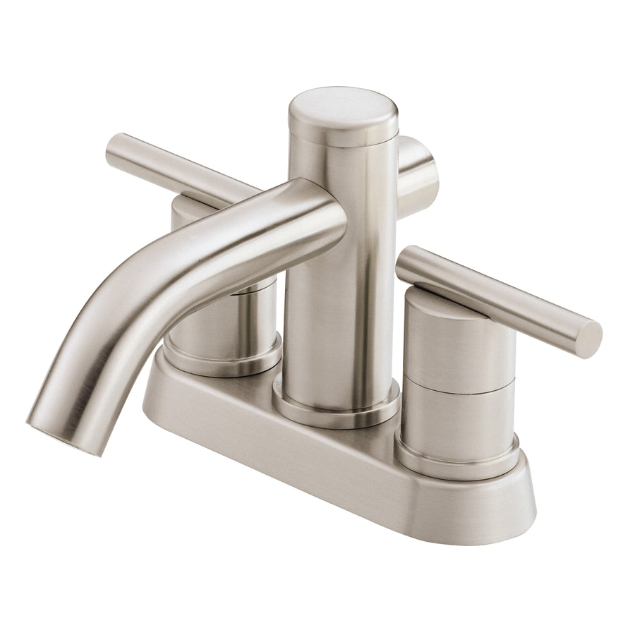 Danze Parma Brushed Nickel 2-Handle 4-in Centerset WaterSense Bathroom Faucet (Drain Included)