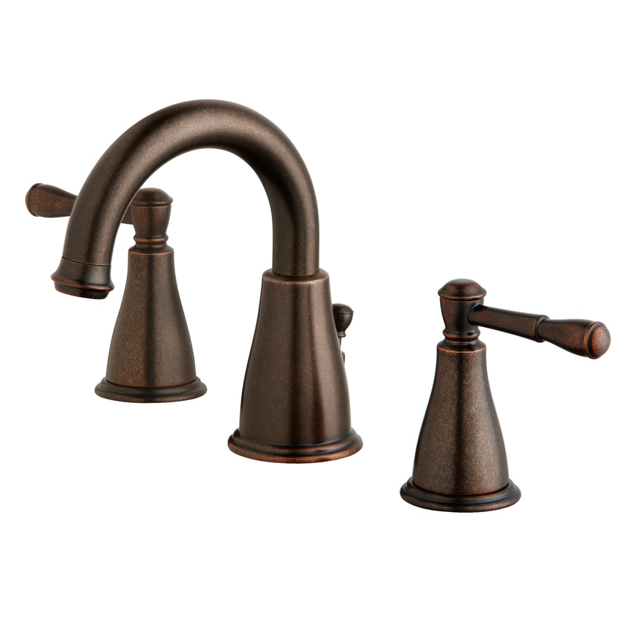 Danze Eastham Tumbled Bronze 2-Handle Widespread WaterSense Bathroom Faucet (Drain Included)