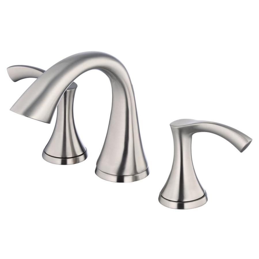 Danze Antioch Brushed Nickel 2-Handle Widespread WaterSense Bathroom Faucet (Drain Included)