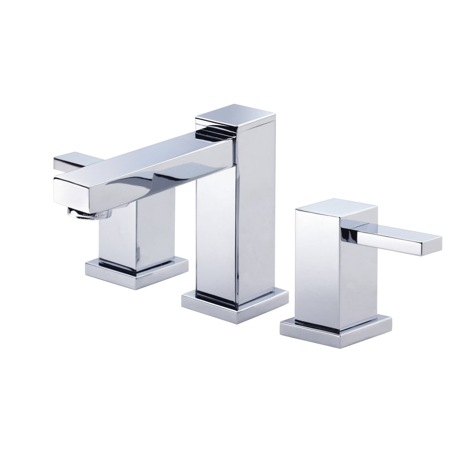 Danze Reef Chrome 2-Handle 4-in Mini Widespread WaterSense Bathroom Faucet (Drain Included)
