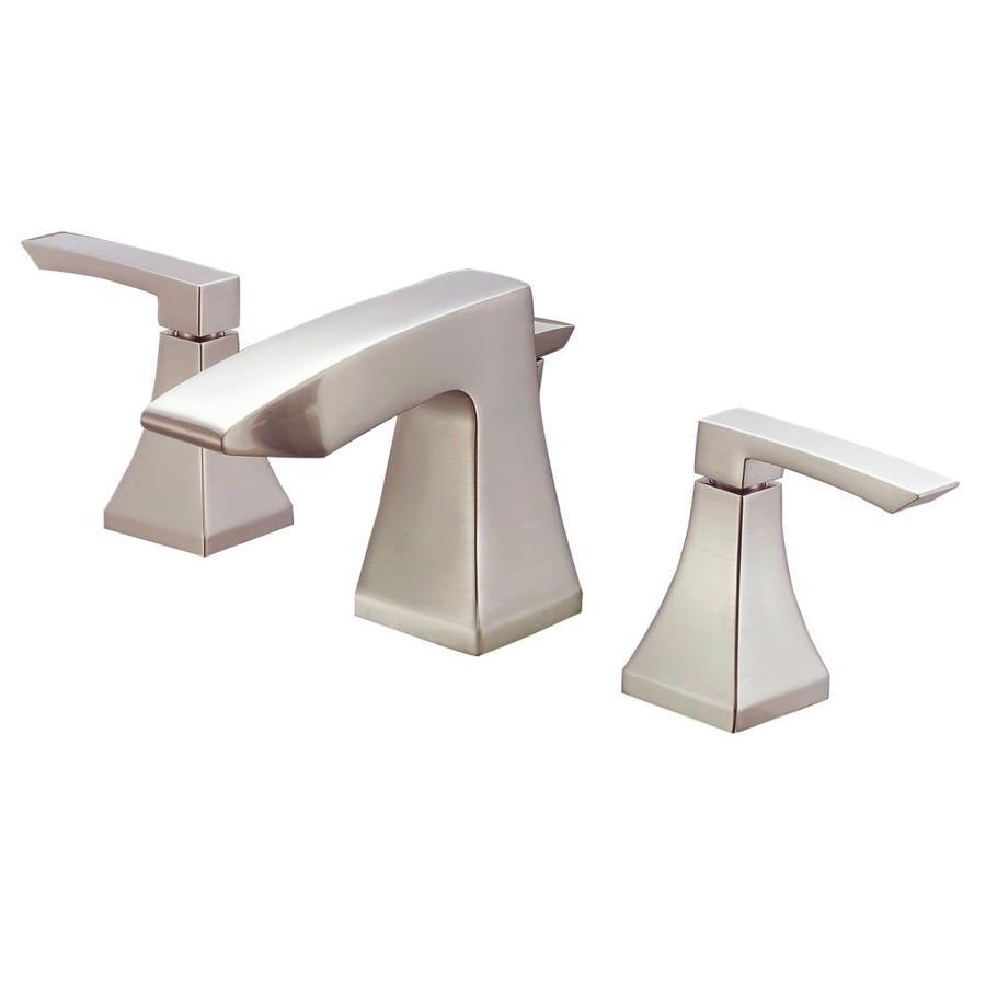 Danze Logan Square Brushed Nickel 2-Handle Widespread WaterSense Bathroom Faucet