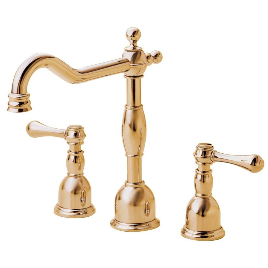 Danze Opulence Polished Brass 2-Handle Widespread WaterSense Bathroom Faucet (Drain Included)