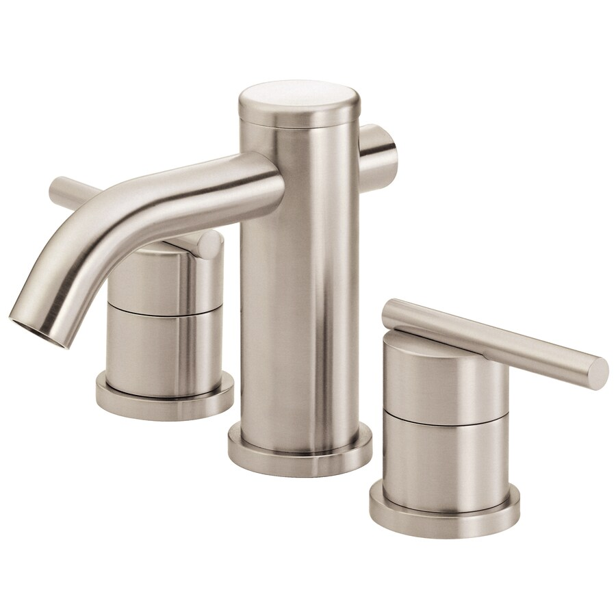 Danze Parma Brushed Nickel 2-Handle Widespread WaterSense Bathroom Faucet (Drain Included)