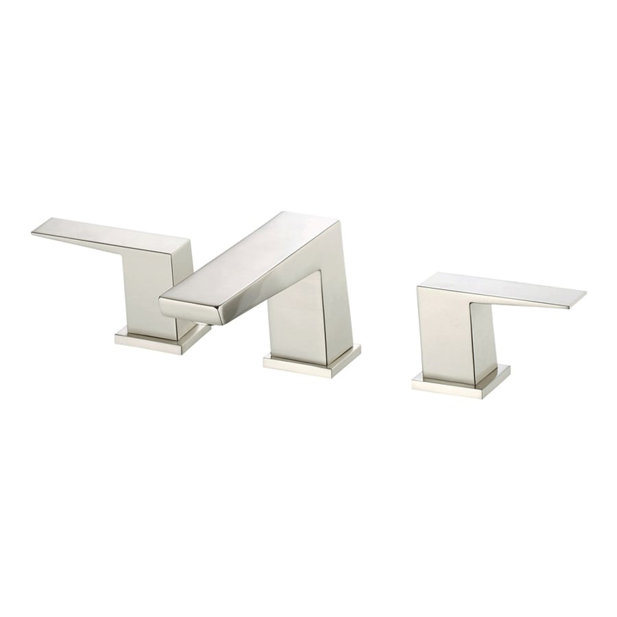 Danze Mid-Town Brushed Nickel 2-Handle Widespread WaterSense Bathroom Faucet (Drain Included)