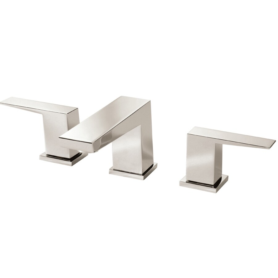 Danze Mid-Town Polished Nickel 2-Handle Widespread WaterSense Bathroom Faucet (Drain Included)