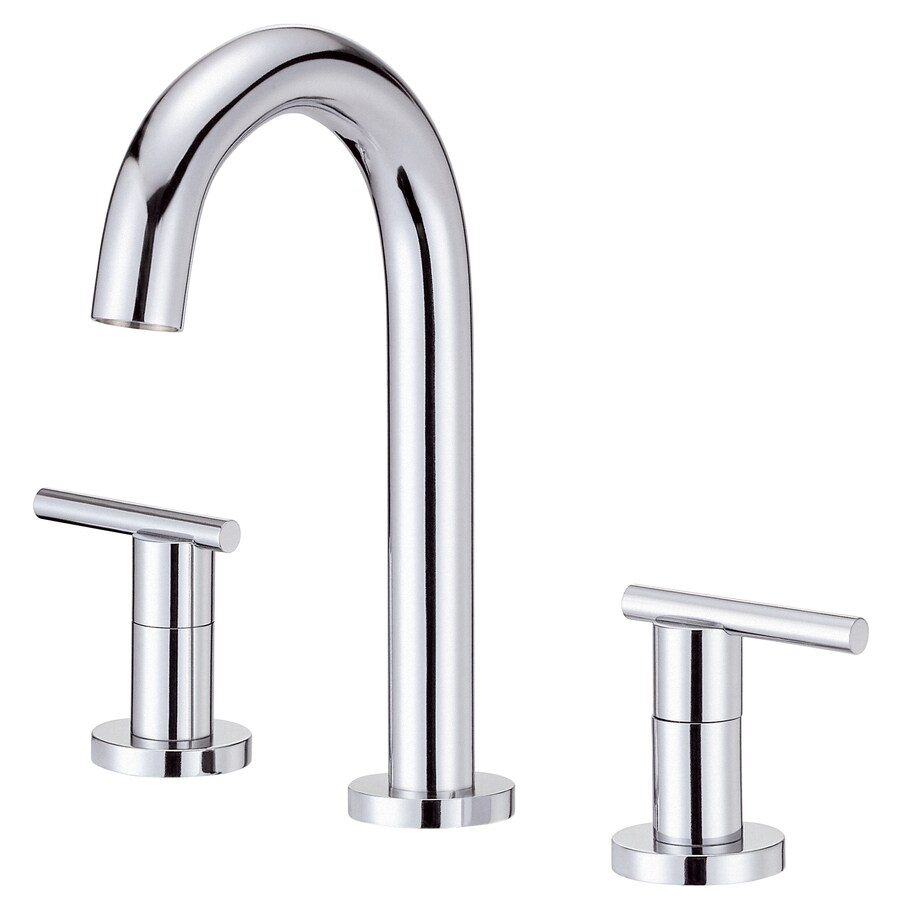 Danze Parma Chrome 2-Handle 4-in Mini Widespread WaterSense Bathroom Faucet (Drain Included)