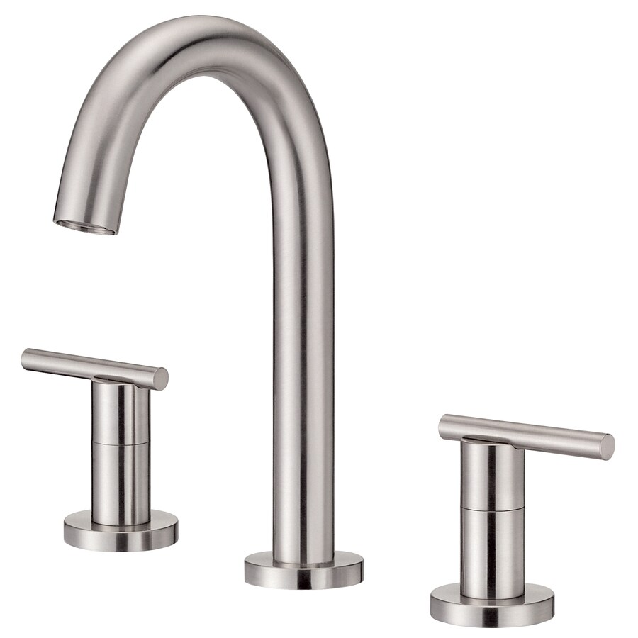 Danze Parma Brushed Nickel 2-Handle 4-in Mini Widespread WaterSense Bathroom Faucet (Drain Included)