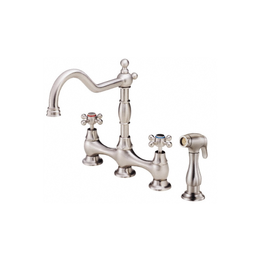 Danze Opulence Stainless Steel 2 Handle High Arc Kitchen Faucet