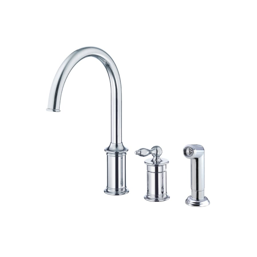 Danze Prince Chrome 1-Handle High-Arc Kitchen Faucet with Side Spray