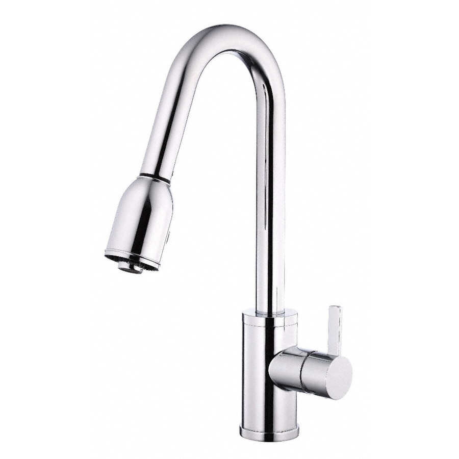 danze pull down kitchen faucet shop danze amalfi chrome 1 handle pull kitchen faucet 23445