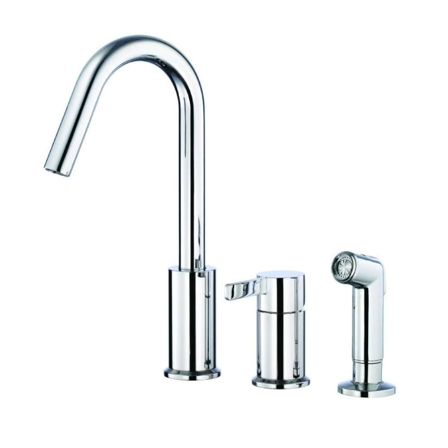 Danze Amalfi Chrome 1-Handle High-Arc Kitchen Faucet with Side Spray