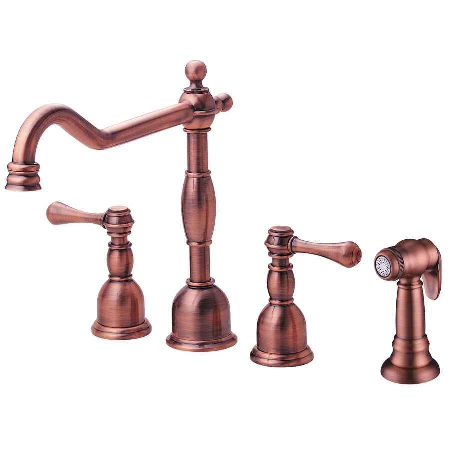Danze Opulence Antique Copper 2-Handle High-Arc Kitchen Faucet