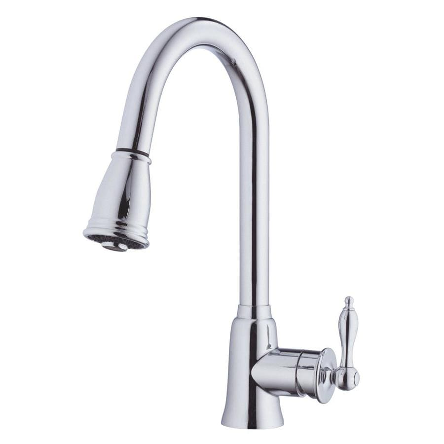 Danze Prince Chrome 1-Handle Handle(S) Included Pull-Down Sink/Counter Mount Traditional Kitchen Faucet