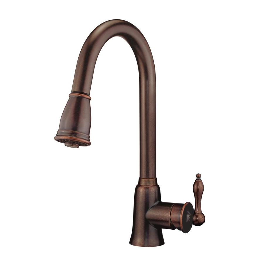 Danze Prince Tumbled Bronze 1-Handle Pull-Down Kitchen Faucet