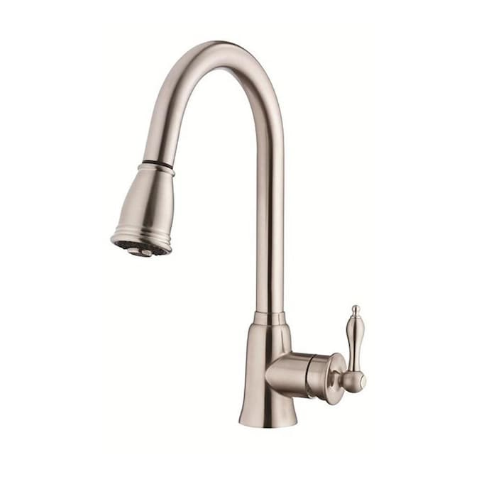 Danze Danze Prince Chrome 1 Handle Deck Mount High Arc Handle Kitchen Faucet In The Kitchen Faucets Department At Lowes Com