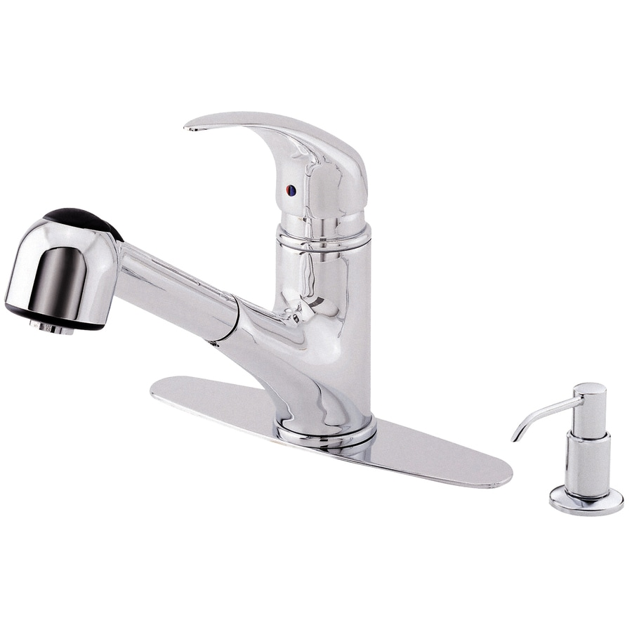Danze Melrose Chrome 1-Handle Handle(S) Included Pull-Out Sink/Counter Mount Traditional Kitchen Faucet